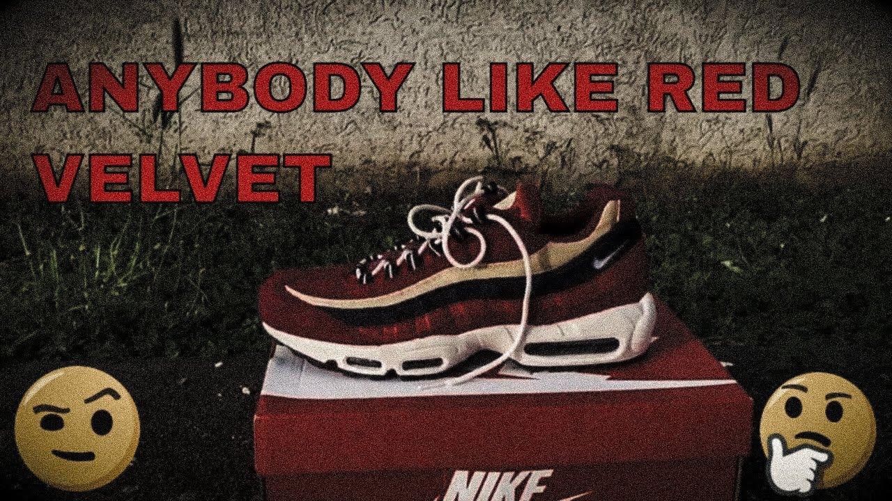 c08757b0069b Nike Air Max 95 PRM Red Crush Wheat Gold Review - YouTube