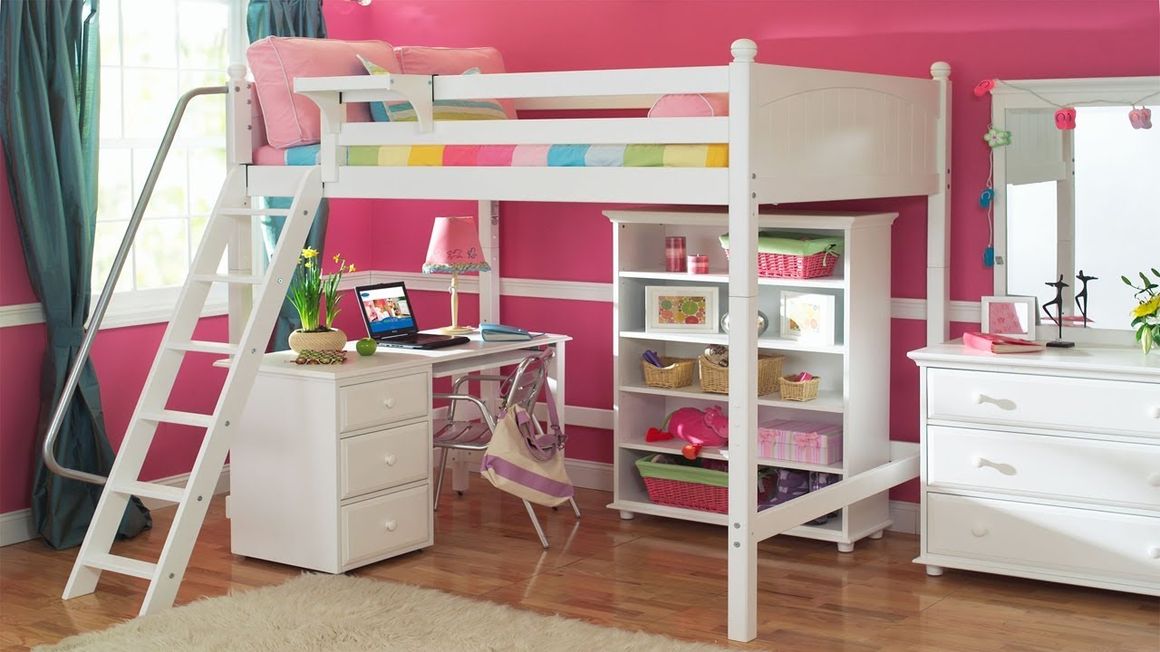 Bunk Bed With Desk Underneath Loft Bunk Beds For Boys And Girls Youtube