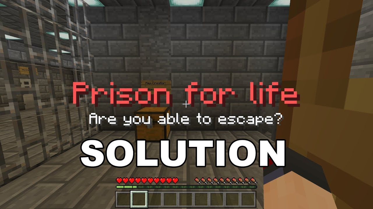Map 4 Life.Minecraft Map Prison For Life Are You Able To Escape Solution