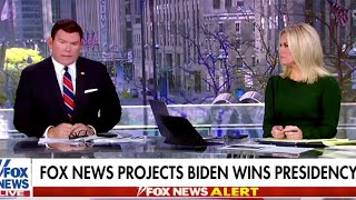 Moment US TV networks declared Joe Biden as the next President of the United States