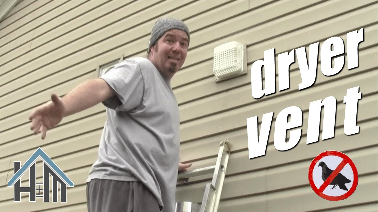 How To Install Exterior Exhaust Vent With Bird Guard Easy