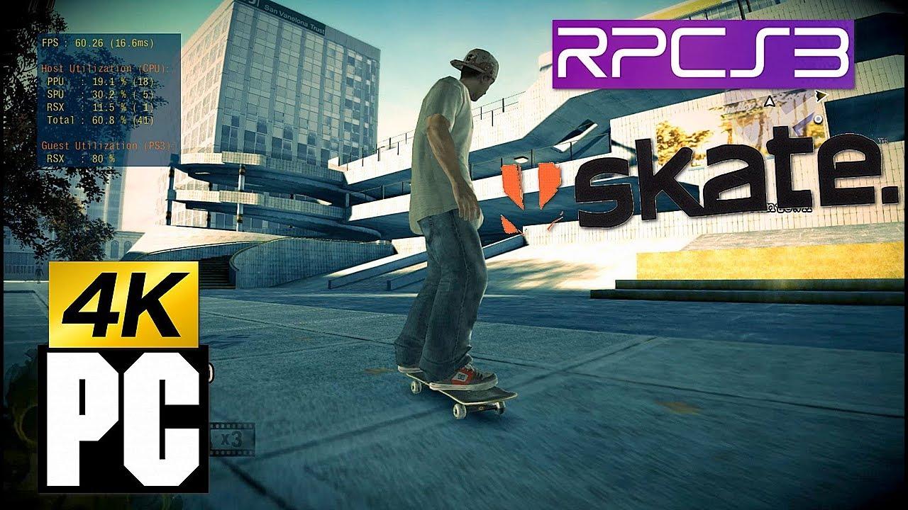 PS3 Skate 1 on PC 4k RPCS3 Emulator i7 4790k - смотреть