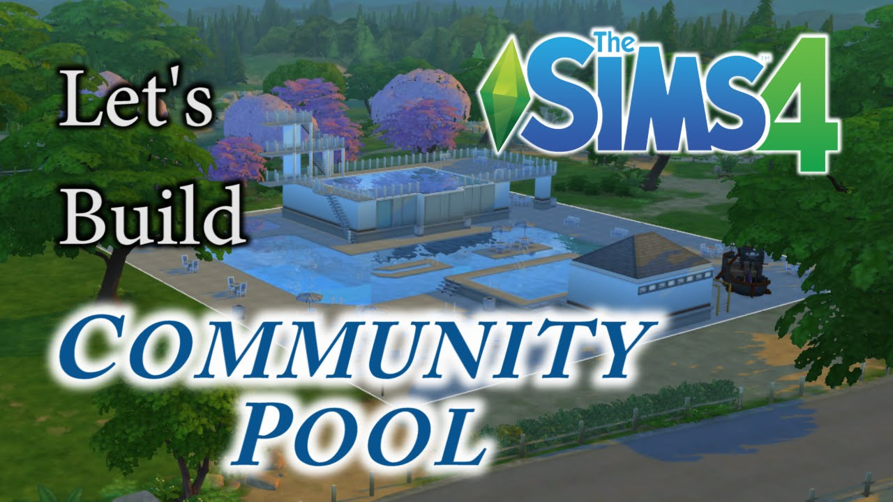 Sims 4 speed build community pool water park youtube for Pool designs sims 4