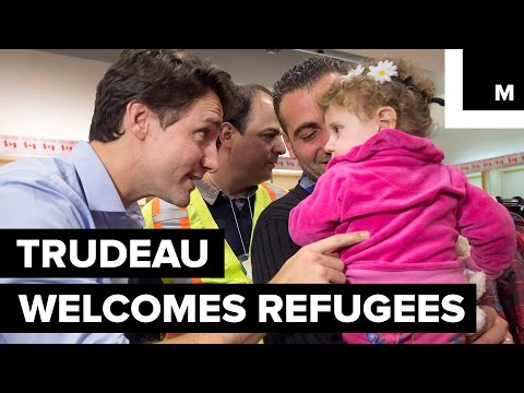 'You Are Home': Canada's Justin Trudeau Welcomes Syrian Refugees