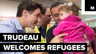 \'You Are Home\': Canada\'s Justin Trudeau Welcomes Syrian Refugees