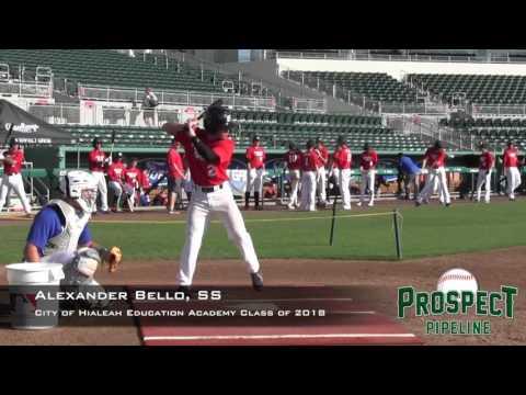 Alexander Bello prospect video, SS, City of Hialeah Education Academy Class of 2018