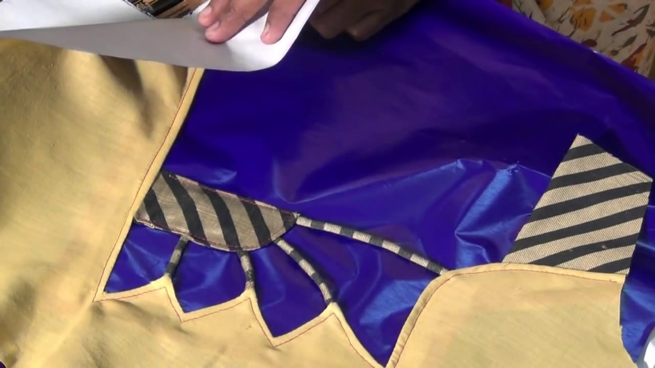 How To Make Saree Blouse Back Fashion Part 1 Youtube