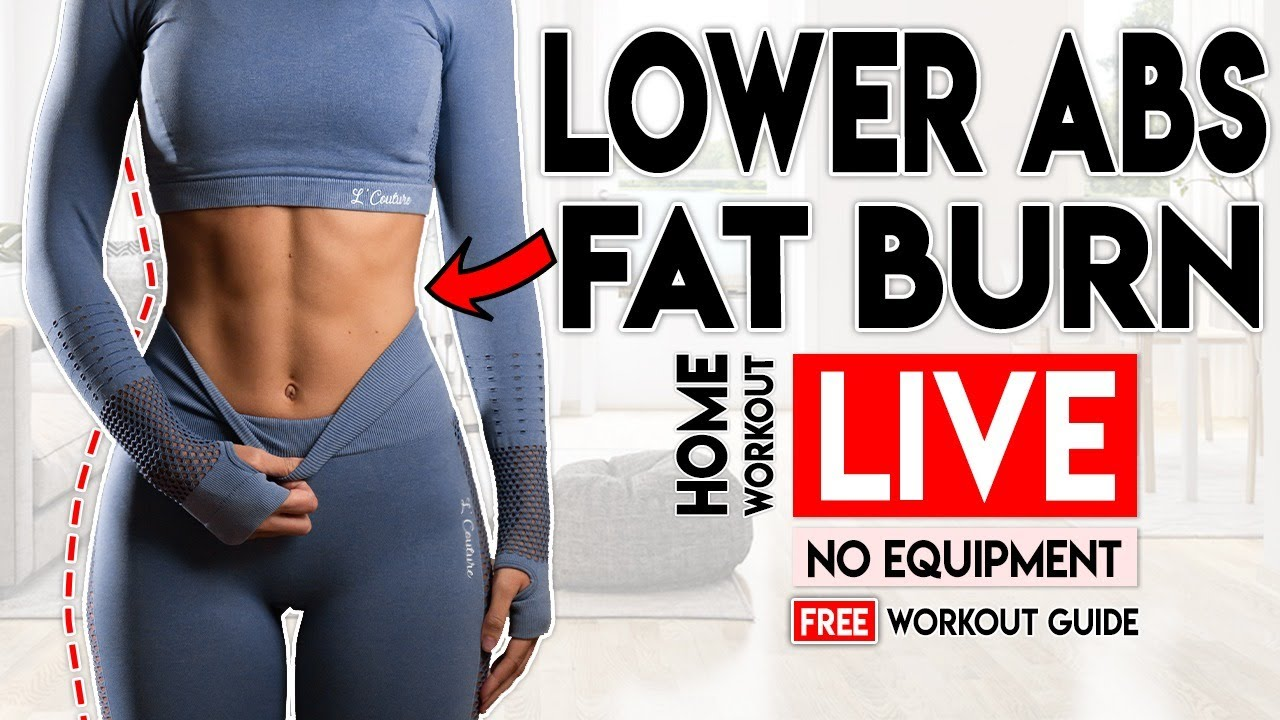 LOWER ABS FAT LOSS Live Workout | Free Home Workout Guide