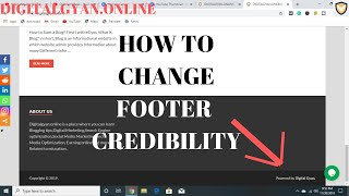 How to change footer credibility in hindi   powered by wordpress digital gyan