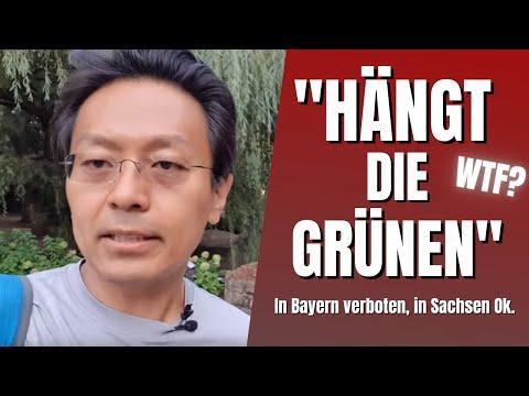 """""""Hängt die Grünen"""". In Bayern verboten,  in Sachsen Ok. WTF?"""