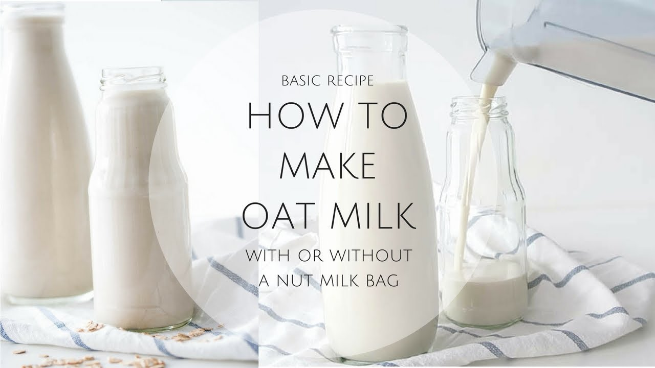 How To Make Oat Milk Not Slimy Youtube