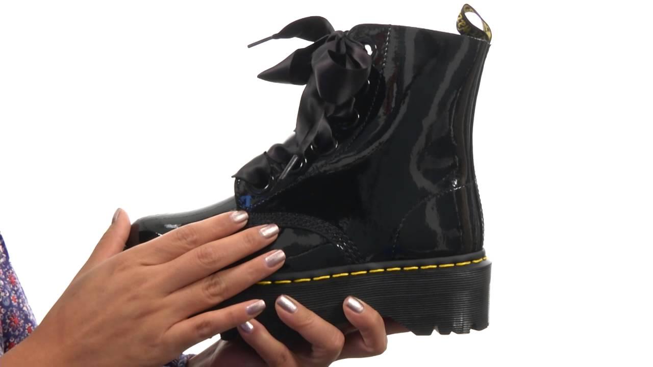Dr. Martens, 6 Eye Lolita Boot MOLLY Glitter, weiß | mirapodo