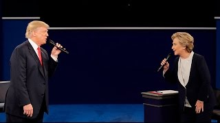 Donald Trump and Hillary Clinton speak about Trump