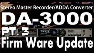 TASCAM DA-3000: Firmware Update- ver. 2.03