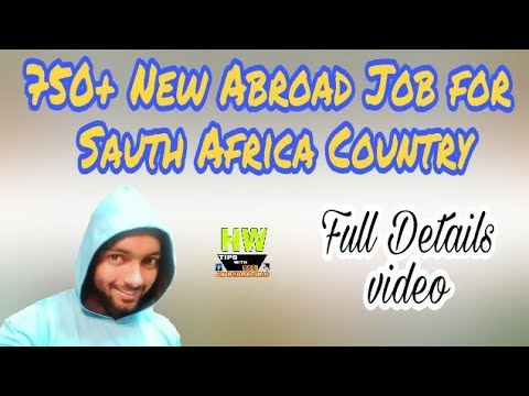 New Abroad Job At South Africa Country,750+ Jobs Post Salary 600+ USD+ Food