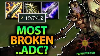 IS THIS THE MOST BROKEN TROLL PICK I'VE EVER DONE?! LEONA ADC SEASON 7 - League of Legends