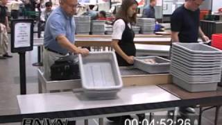 Airport Security Footage - September 2006. Minneapolis International Airport