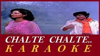 Chalte Chalte Mere Yeh Geet Karaoke   Kishore Kumar   Hindi Karaoke Track