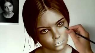 Живопись Как нарисовать портрет по фото жемчужиной