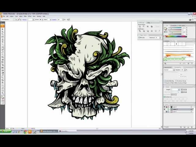 Vector Skull Speed Drawing Tutorial & Freebie - CrazyLeaf Design Blog