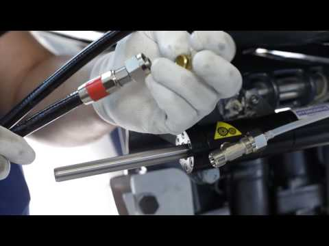 Hydrodrive: installation of hydraulic steering system