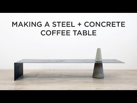Making a Steel and Concrete Coffee Table