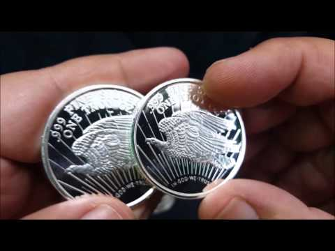 Unboxing of  Saint Gaudens 1 oz Silver Bullion Rounds