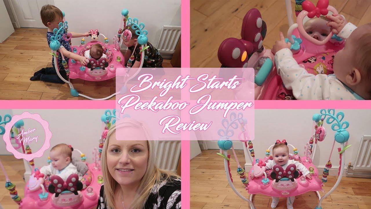 fdd06e34c Bright Starts Minnie Mouse Peekaboo Jumper Review - YouTube