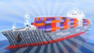 How To Build a CARGO SHIP in Minecraft (CREATIVE BUILDING)