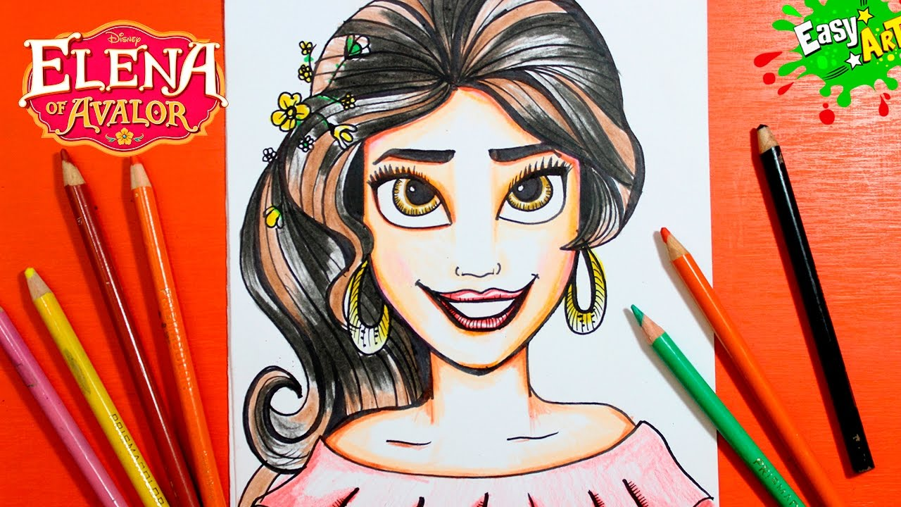 How To Draw The Princess Elena De Avalor