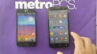 comparison between LG L70 and alcatel fierce 2 metro pcs