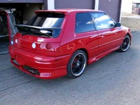 my mazda 323 gt turbo with a magnaflow exhaust youtube. Black Bedroom Furniture Sets. Home Design Ideas