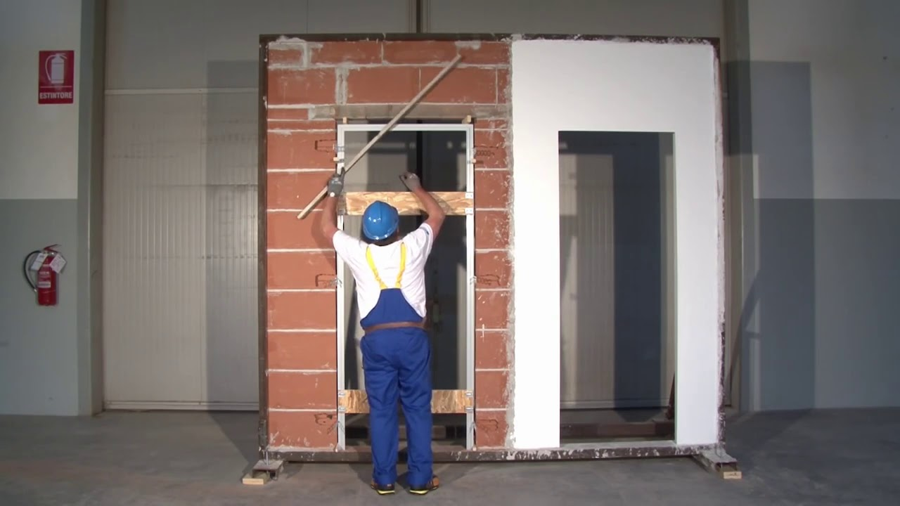 Come Montare Un Controtelaio posare un telaio per porta a battente filomuro eclisse syntesis line  battente vers intonaco