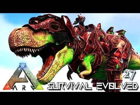 ARK: SURVIVAL EVOLVED - TEK TREX STRONGEST EVER Lvl 4000+ !!! E27 (MODDED ARK PUGNACIA DINOS)