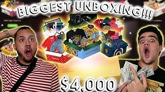 BIGGEST MYSTERY BRAND UNBOXING $4,000 WORTH OF ONLINE HYPEBEAST MYSTERY BOXES!! * NOT SPONSORED