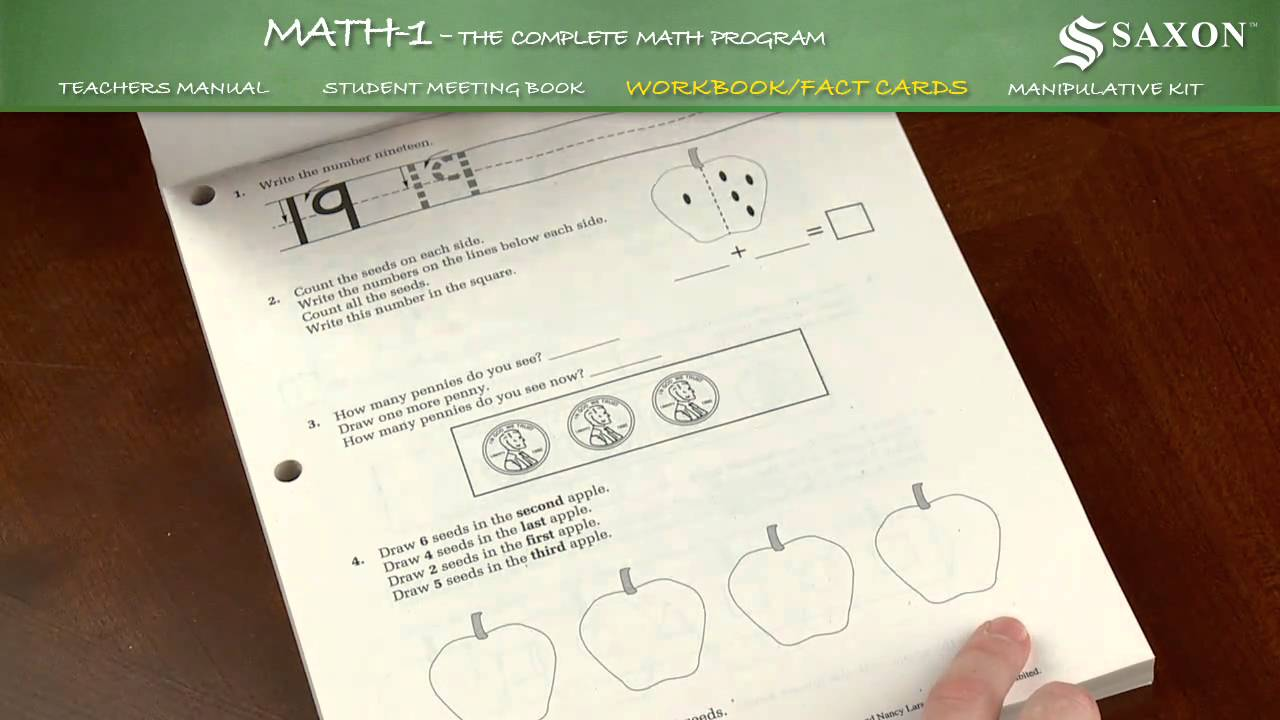medium resolution of Saxon Math 1 Student Workbook - YouTube