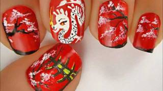 Chinese New Year 2013 Snake nails art by LuvableNails