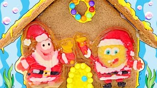 Spongebob + Patrick Gingerbread House Kit --- Gummy Spongebob Squarepants Edible Candy Craft