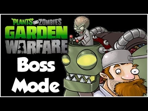 Plants vs. Zombies Garden Warfare - Boss Mode!! Dr. Zomboss and Crazy Dave!! (Xbox One 1080p HD)