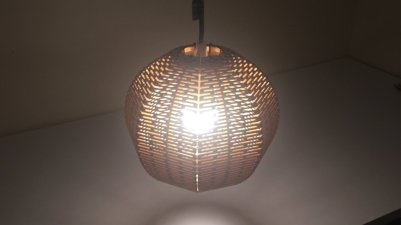 Laser Cut Living Hinge Lampshade 02 Ball