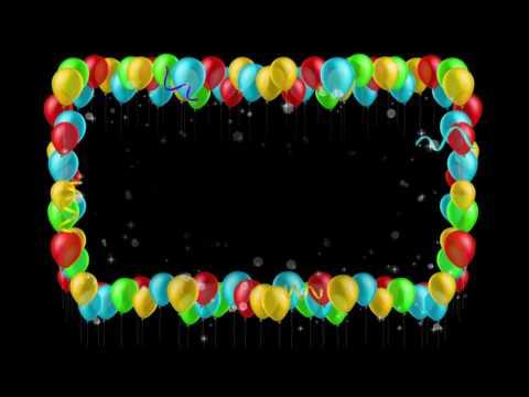 Футаж Рамка из воздушных шаров