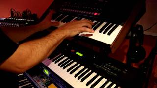 Azul y Negro Me estoy volviendo loco en Korg MS2000 Juan A. León. Video HD