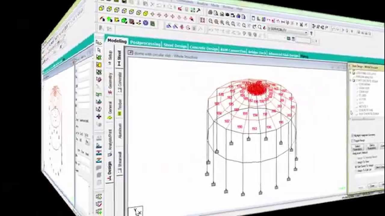 Design Amp Analysis Of Dome With Circular Slab Structure By