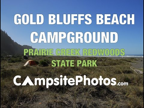 Gold Bluffs Beach Campground Prairie Creek Redwoods State Park California