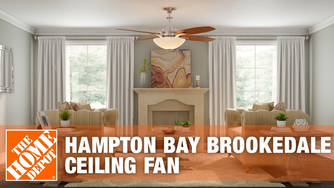 Hampton bay brookedale 60 in ceiling fan the home depot youtube aloadofball Choice Image