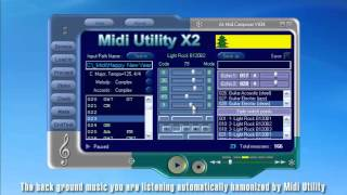Midi Utility - Tutorial - Fully Automatic Accompaniment Software - English