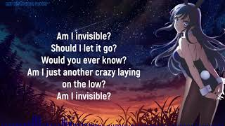 Invisible lyrics anna