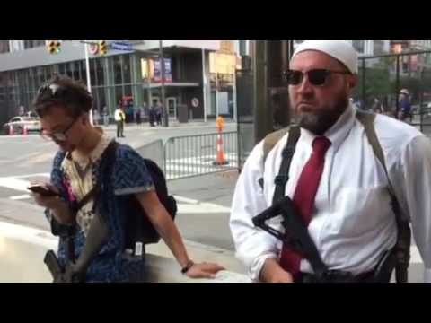Ohio leftists practicing open carry at Republican National Convention
