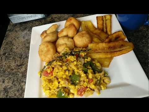 The Best Jamaican Ackee And Saltfish: Fried Dumplings/plantains