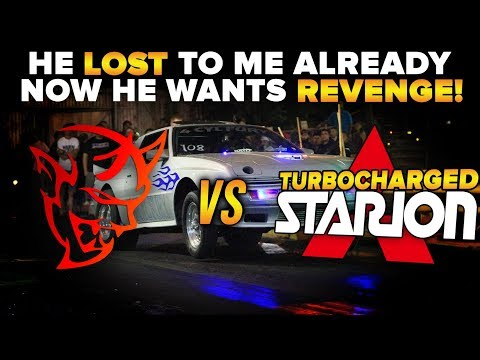 This Starion LOST to me now he wants REVENGE! Modded Dodge Demon vs Mitsubishi Starion DRAG RACE